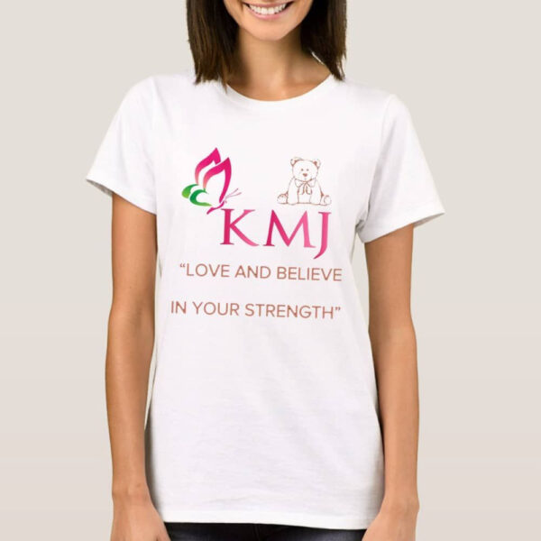 KMJS ADULT T SHIRT white