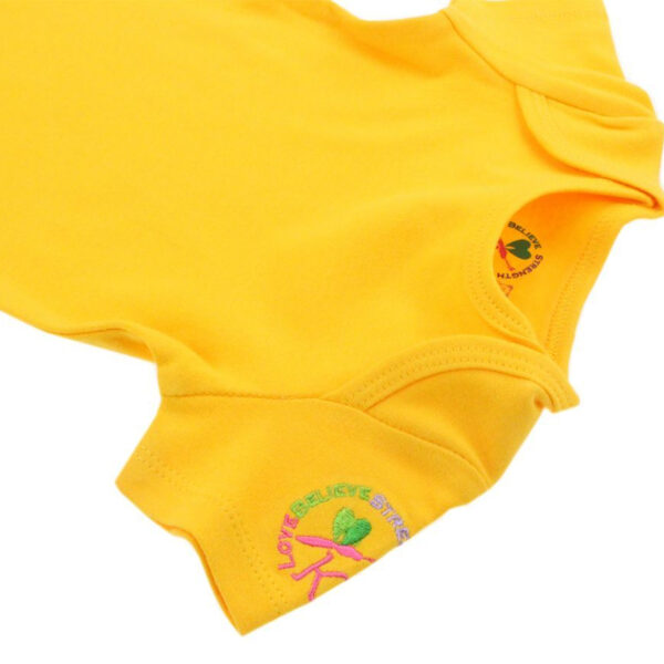 KMJS SHORT SLEEVE BODYSUIT sunshine yellow 1